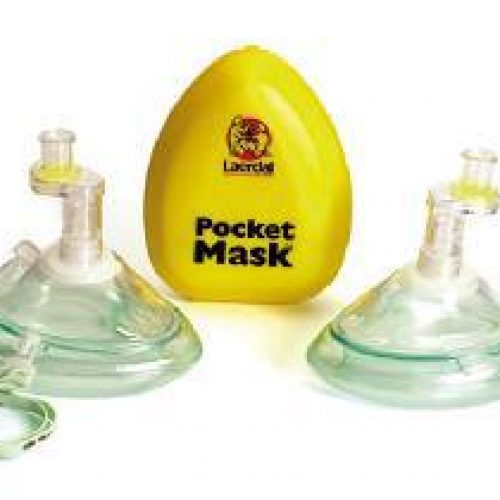Laerdal Pocket Mask (Gloves & Wipe in Yellow Hard Case)