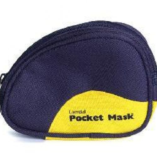 Laerdal Pocket Mask w/ gloves & wipe in Black Soft Pack